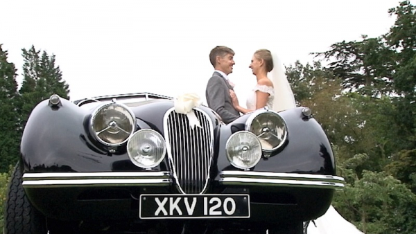 Cassie and Mark at Penshurst Church