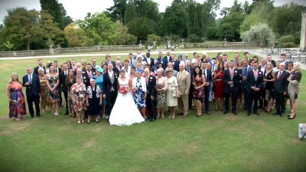 Felicity and James at Buxted Park Hotel