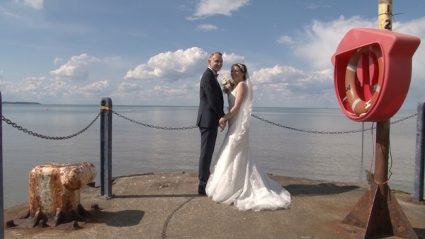 Hannah and Neil at East Quay Whitstable