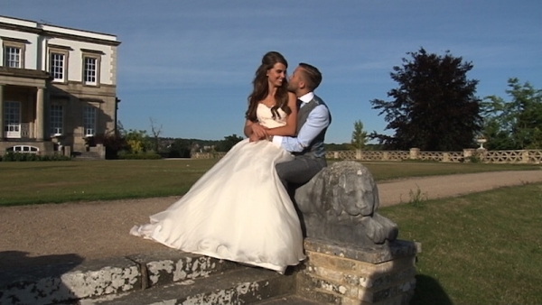Hollie and Jack at Buxted Park Hotel