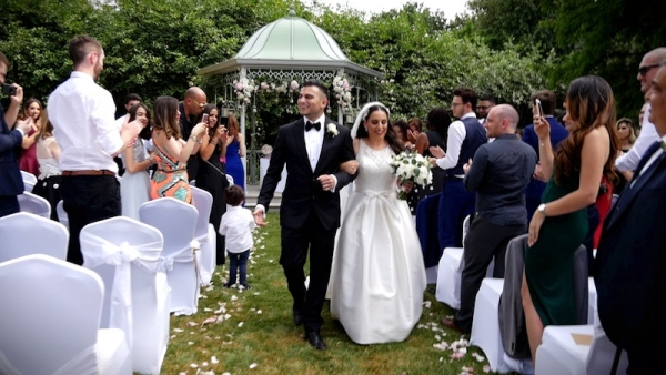 Nadine and Eren at Sopwell House