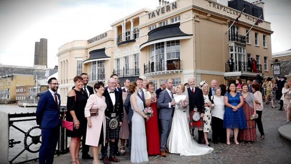 Sarah and Simon at the Trafalgar Tavern