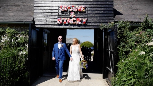Stacey and Shane at Upwaltham Barns