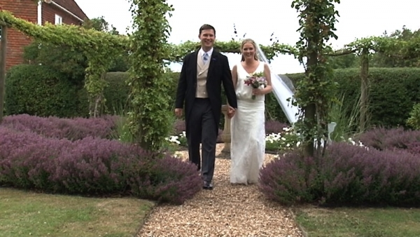 Tessa and Harry at Wittersham Church