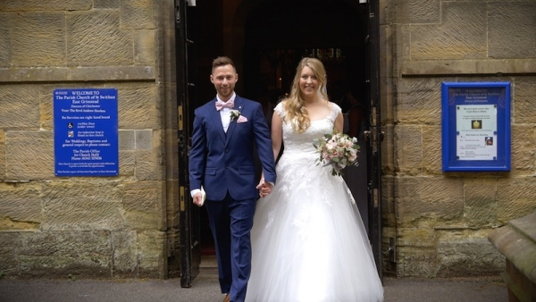 Annabel and Tony at Hendall Manor Barns
