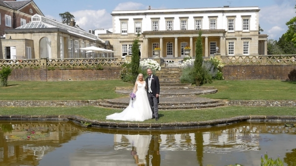 Anneka and Nicholas at Buxted Park Hotel