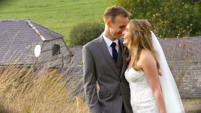 Charlotte and James at Upwaltahm Barns