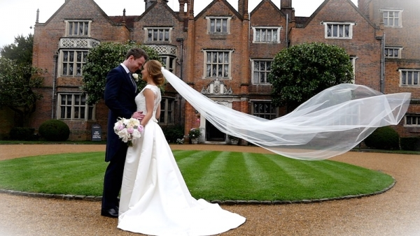 Georgina and Matthew at Great Fosters