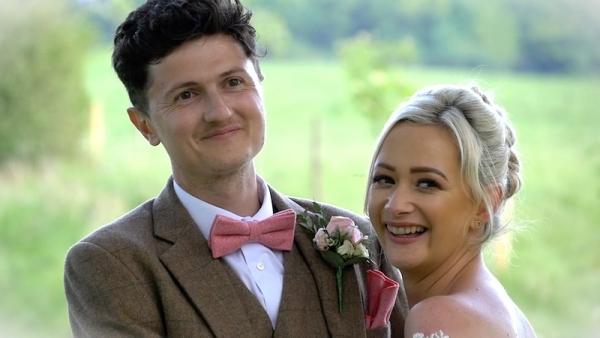 Hannah and Joshua at Upwaltham Barns