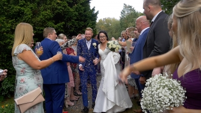 Scott & Heather at Audleys Wood Hotel
