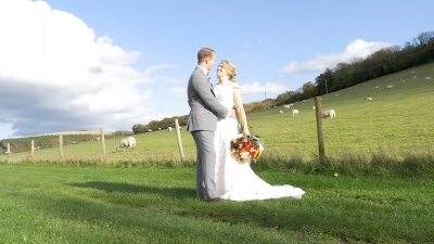 Sophie & Jamie at Upwaltham Barns