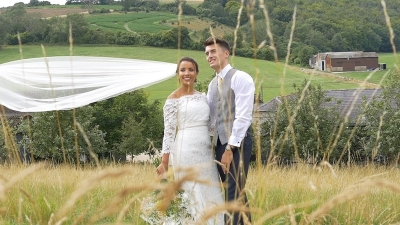 Zoe & James at Upwaltham Barns